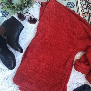 Urban Outfitters Rust Orange Ultra Fuzzy Cardigan